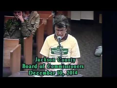 Our Family Farms Coalition to Jackson County Commissioners (10 Dec 2014)