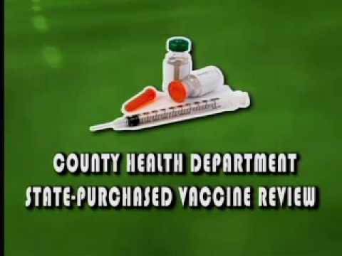 County Health Department State-purchased Vaccine Review