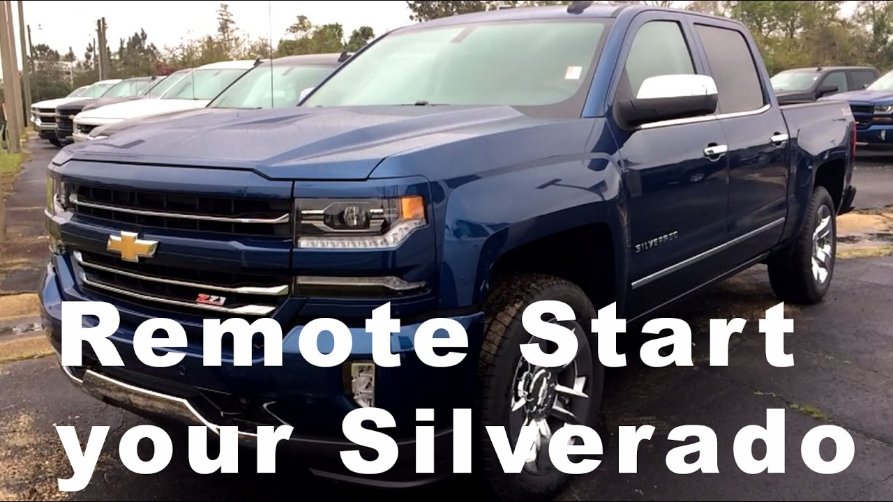 Remote Starting Your 2017 Silverado | MyLink  Star Chevrolet Wiggins, MS