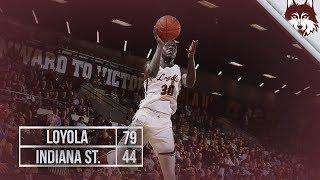 Loyola vs. Indiana State   Men's Basketball Highlights