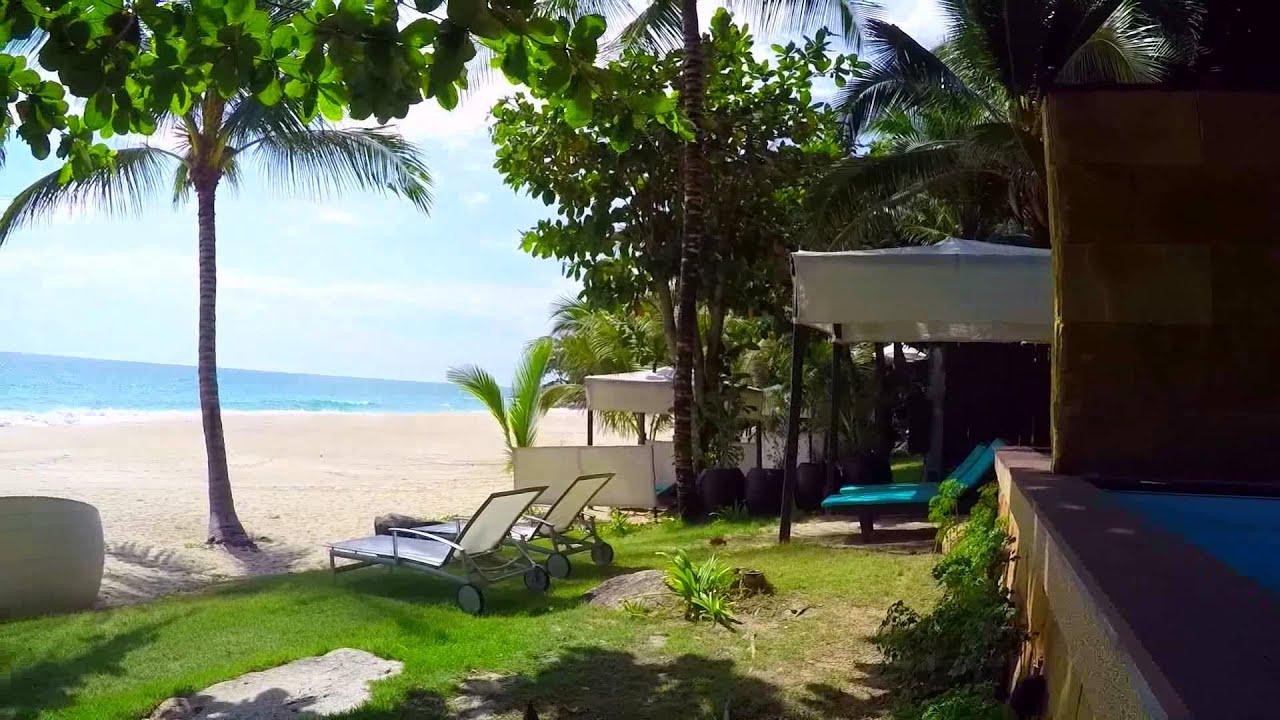 Andaman White Beach Resort Pool Villa Entry - YouTube