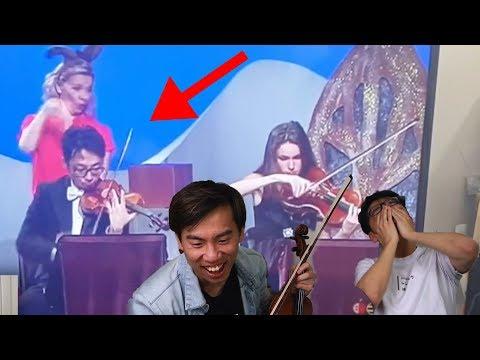 Brett Playing Violin on TV