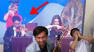 Brett Playing Violin on TV...