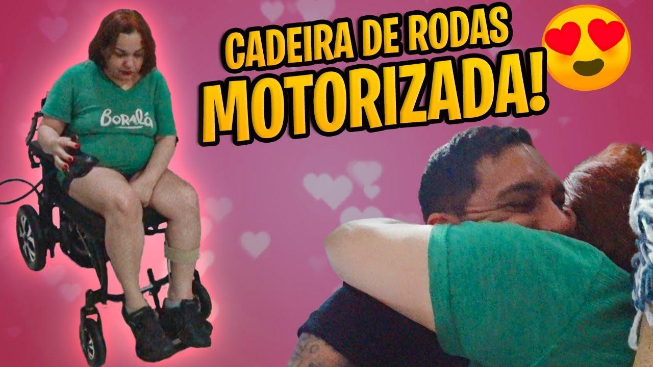 DEI UMA CADEIRA DE RODAS MOTORIZADA PRA MINHA MÃE (1ª SURPRESA)