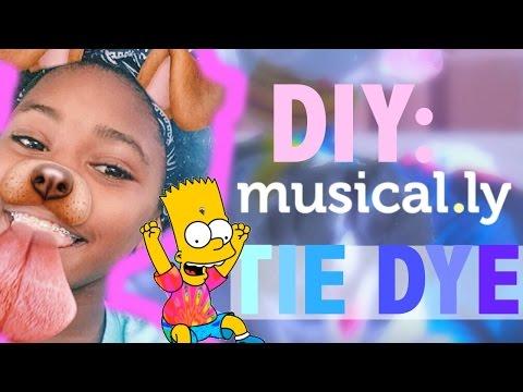 DIY TIE DYE MUSICAL.LY SHIRT!