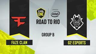 CS:GO - G2 Esports vs. FaZe Clan [Dust2] Map 2 - ESL One: Road to Rio - Group B - EU