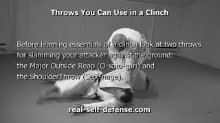 Self-Defense Clinch: Grips, Throws, Knee Kicks, Bumps and Trips, Turns, and a Clinch at a Wall
