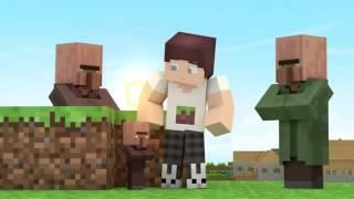 Злые Жители   Minecraft Прикол