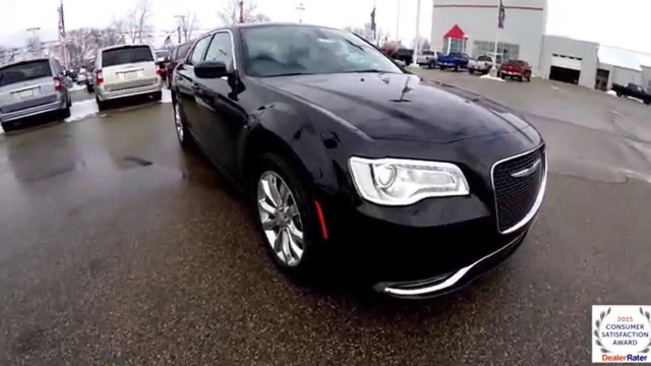 2016 chrysler 300 limited awd black youtube. Black Bedroom Furniture Sets. Home Design Ideas