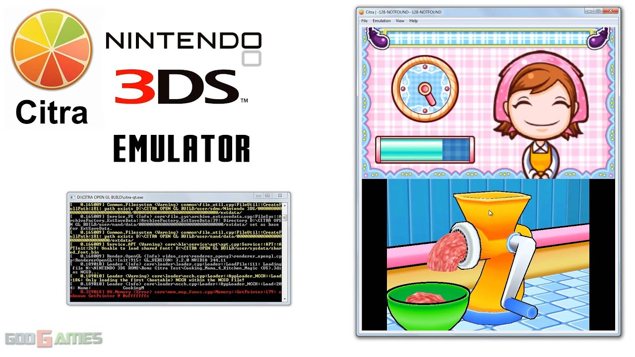 Citra 3DS Emulator - Cooking Mama 4: Kitchen Magic Realtime Gameplay ...