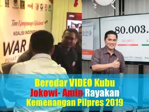 Beredar VIDEO Kubu Jokowi - Amin Rayakan Kemenangan di Pilpres 2019 | Wonderdir Pilpres