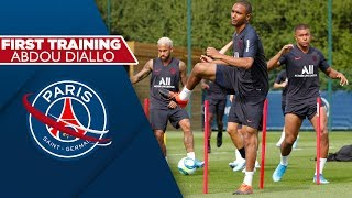 ABDOU DIALLO'S FIRST TRAINING FOR PARIS SAINT-GERMAIN