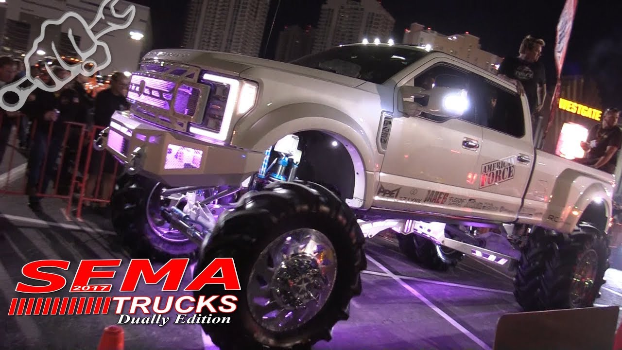 Lifted Dually Sema Trucks 2017 Youtube