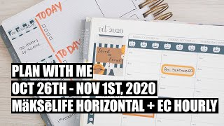 Plan With Me Erin Condren Hourly AND MakseLife Horizontal, How to Use Multiple Planners