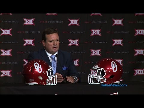 Oklahoma coach Bob Stoops at Big 12 Media Day