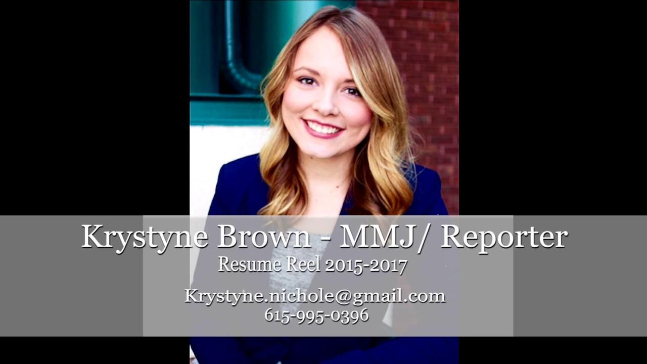krystyne brown resume reel 2017 youtube