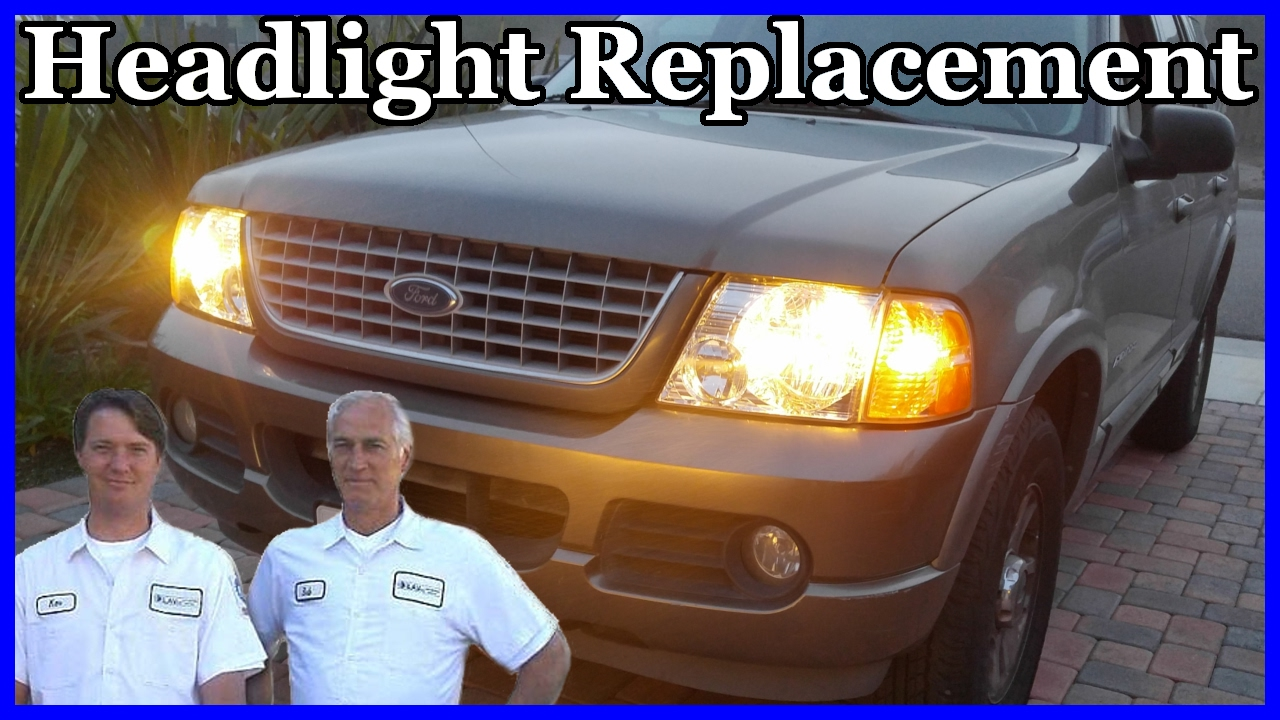 how to change the headlight on a ford exporter 2002