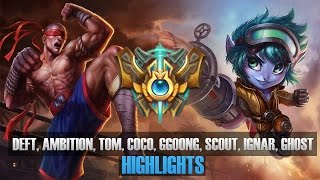 Challenger Match - Deft, Ambition, T0M, CoCo, Ggoong, Scout, IgNar, Ghost - KR SoloQ Highlights