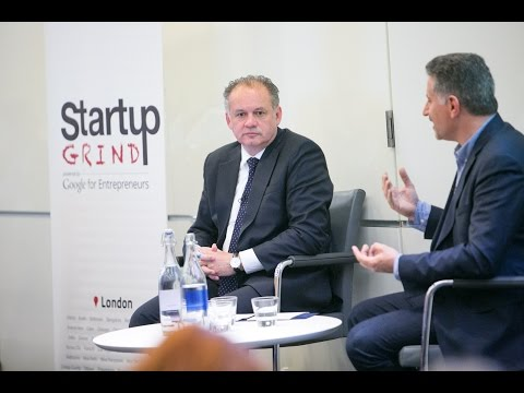 Andrej Kiska (President of Slovakia) at Startup Grind London