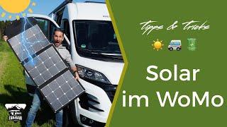 Wohnmobil Solaranlage - Montage oder Solartasche Vor- & Nachteile