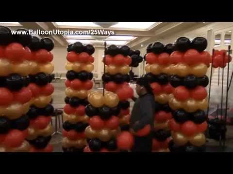 Balloon Tower in Casino Theme - DIY Tutorial