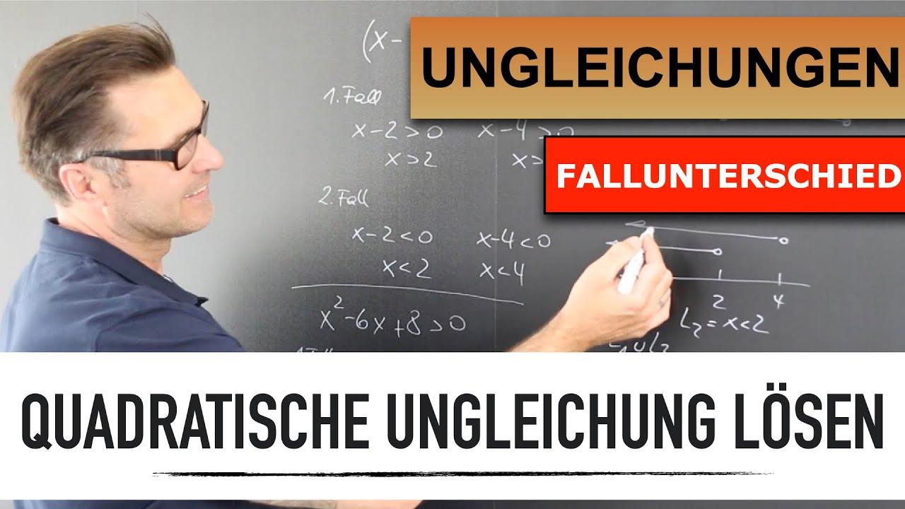 Wie löse ich eine Quadratische Ungleichung?   Rechnerische