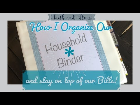 Household Management Binder | Monthly Bills and Paperwork Organization