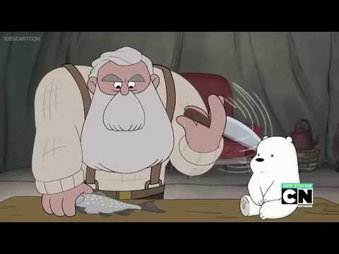 We Bare Bears- Yuri and the Bear Scene- training little Ice Bair