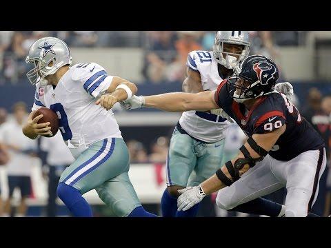 Tony Romo escapes J.J. Watt & throws a 43-yard TD (Week 5, 2014)