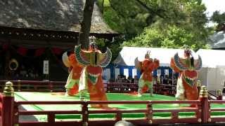 2015 熱田神宮 雅楽 舞楽神事 迦陵頻  Karyoubin, Bugaku - Japanese Court Music with Dance