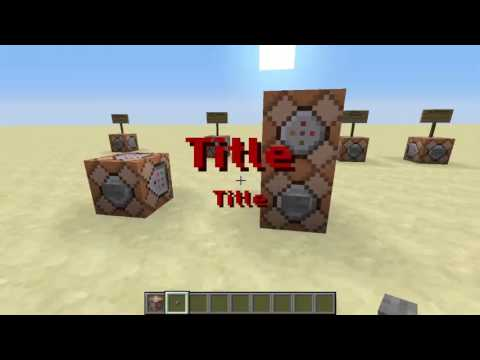Minecraft Command Block Tutorial #4   Title, Subtitle, Tellraw and Say