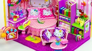DIY Miniature Hello Kitty Dollhouse Bedroom