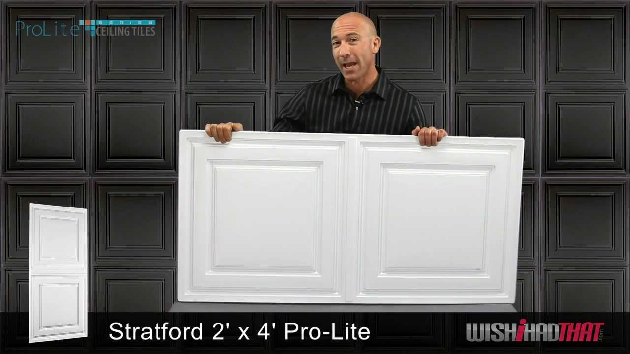 Prolite stratford 2x4 ceiling tile youtube prolite stratford 2x4 ceiling tile dailygadgetfo Images
