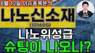 나노신소재(121600) - 나노위성급 슈팅이 나오나?