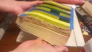365 day textbook/ hidden writing Junk Journal Flip by Zedlitz