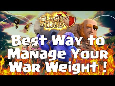 BEST WAY TO MANAGE YOUR WAR WEIGHT in Clash of Clans (Hindi)