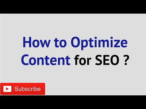 How to Optimize Content for SEO | ON Page SEO Content Optimization Basics