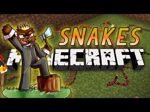 BRAND NEW Minecraft Snakes Minigame w/ BajanCanadian, GizzyGazza, and AshleyMarieeGaming