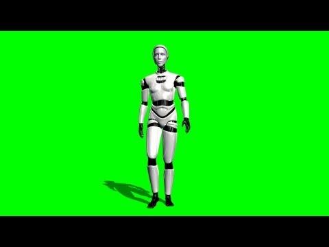 I Robot walk green screen A thumbnail