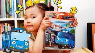 꼬마버스 타요 미니 퍼즐 맞추기 장난감 놀이 씽씽극장 Tayo The Little Bus Puzzle Toys Play игрушка 뽀로로 라임튜브