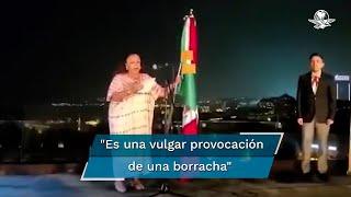 """Al conmemorar el Grito de Independencia, la cónsul mexicana lanzó un """"Viva López Obrador"""" que causó abucheos y el descontento de algunas personas que expresaron su rechazo"""