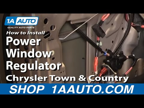 How To Install Replace Power Window Regulator Chrysler Town and Country 04-07 1AAuto.com