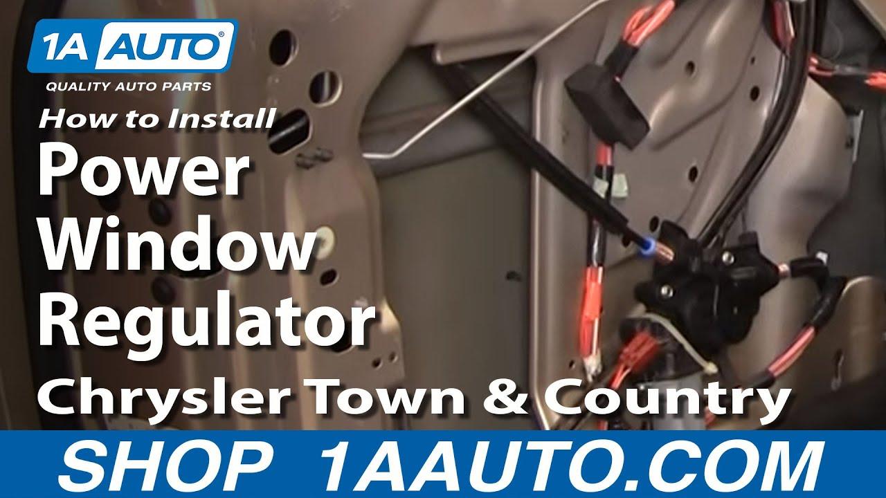 2003 Jeep Liberty Speaker Wiring How To Install Replace Power Window Regulator Chrysler