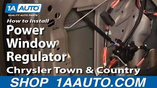 How to Replace Window Regulator 04-07 Chrysler Town & Country