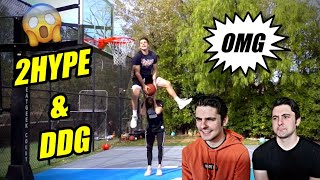 Reacting to 2HYPE Low Rim Dunk Contest W/ Jesser, DDG, & CashNasty | Randall Twins