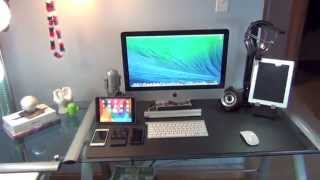 Ultimate Tech Bedroom/ Desk Tour | Gaming Setup | Desk Setup 2014 | Entrainment System | GeeksRoom