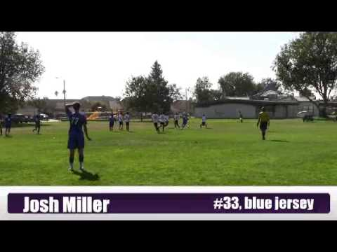 Joshua Miller soccer game video Oct 2013