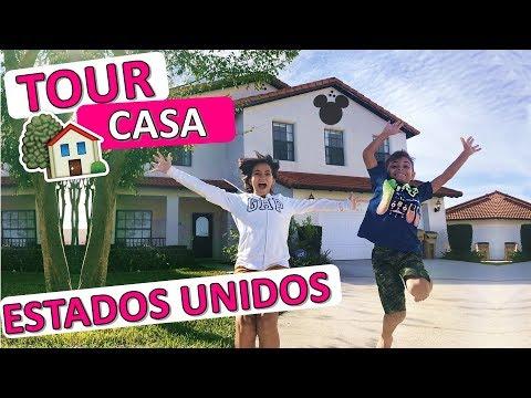 TOUR PELA NOSSA CASA NOS ESTADOS UNIDOS - Viagem Disney = BelaBagunça =