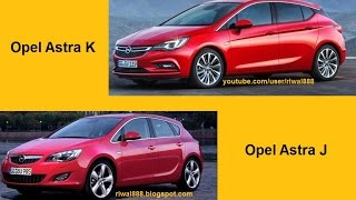 New Opel Astra K vs. Opel Astra J - Design Comparison (QHD)