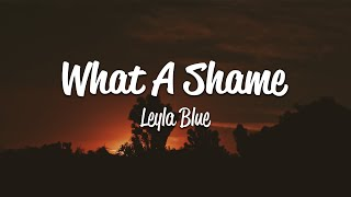 Leyla Blue - What a Shame (Lyrics)